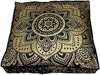 Grande Grande Mandala Cuadrado Suelo Funda De Almohadón Puf meditación Cojín Asiento Hippie Colores Decorativos Boho Bohemio Cama para Perro Indio