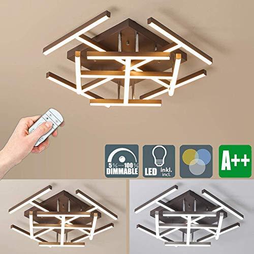 LED plafondlamp kroonluchter plafondlamp dimbaar met afstandsbediening Moderne kunst alleen lichtstrips design voor woonkamer slaapkamer kantoor hotel