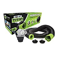 Titan 17853 15ft 15-Foot Premium RV Sewer Hose Kit-Thetford-17853, Black/Green