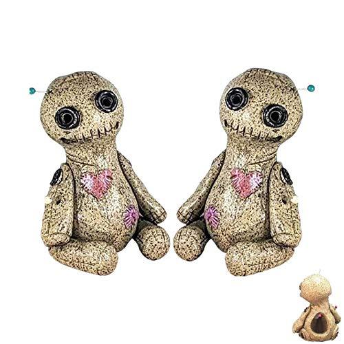 OUHUI Quemador de Incienso de muñeco vudú de 2 Piezas, Quemador de Incienso de Cono de muñeco vudú, para Sala de Yoga, Oficina en casa