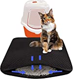 ZuHucpts Cat Litter Mat Trapper, Large Size 30'' X 24'', Double Layer Waterproof