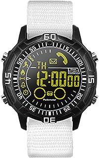 Reloj Bluetooth Inteligente, Libre De Carga De Deportes Al Aire Libre De Marcación Metal Ficha De Llamada De Recordatorio Reloj, Movimiento Multifunción IP67 Resistente Al Agua Reloj Inteligente