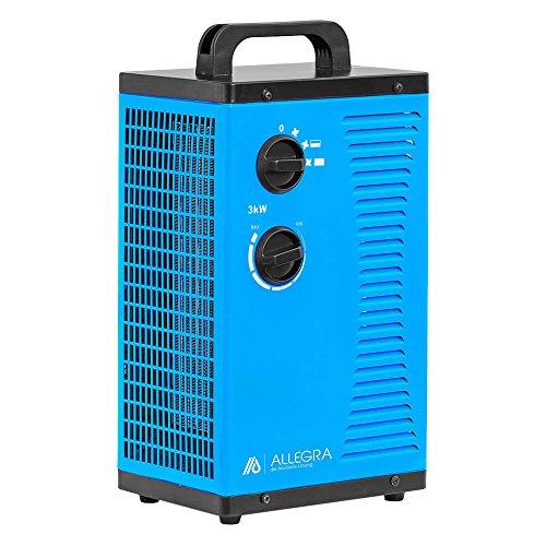 ALLEGRA H32 Keramik Heizlüfter Elektroheizer Heizgerät Bauheizer 3 KW 3000 Watt mit Thermostat und ca. 1,5m Zuleitung