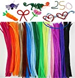 Pipe Cleaners Crafts - Chenille Stems Assorted Colors Craft Wire Bendable & Twistable 250 Pcs - DIY Art Supplies for Children's Craft Projects, Paper Crafts, Holiday Crafts 6mm X 12 Inch by JDF Style