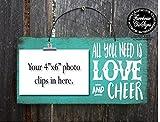 wood picture frame cheer, cheerleading, cheer gift, gift for cheerleader, cheer squad, cheer gifts, cheer signs, cheer decor, cheerleading decor