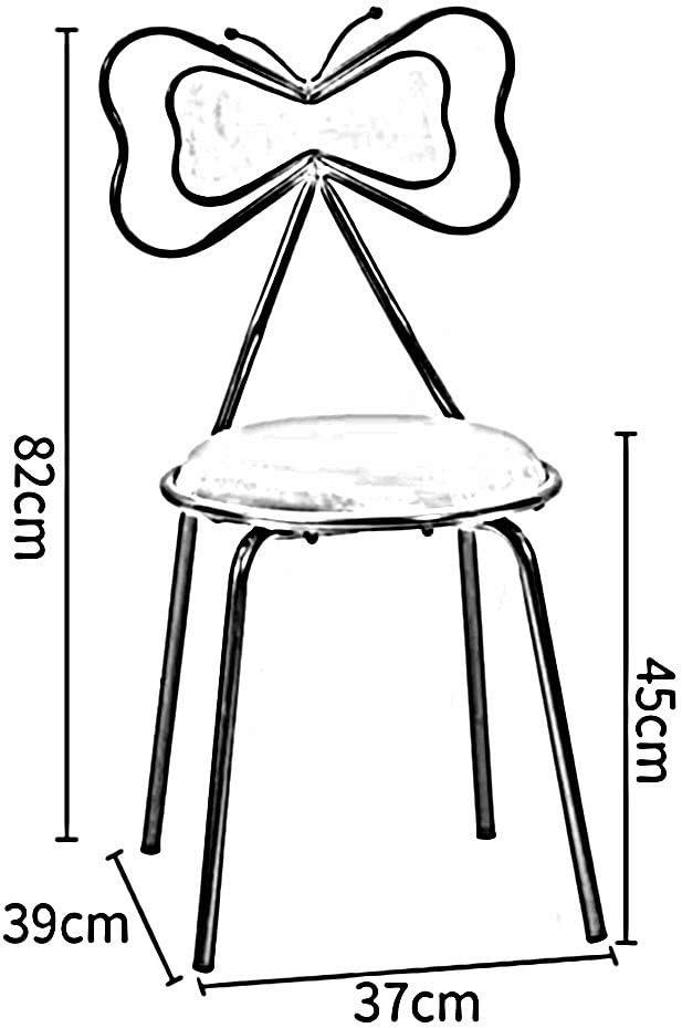 WGXX Chaise Chaise De Maquillage De Style Nordique Or Fer Art Fauteuil Salon Bar Décoration Chaise (Color : Blue) Pink