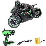 LCZ Ferngesteuertes Motorrad, 4-Kanal-RC-Car Mit Fernbedienung, 2-Rad-Hochgeschwindigkeits-Funkmotorrad Für Kinder Und Elektroantrieb Für Erwachsene,Grün -