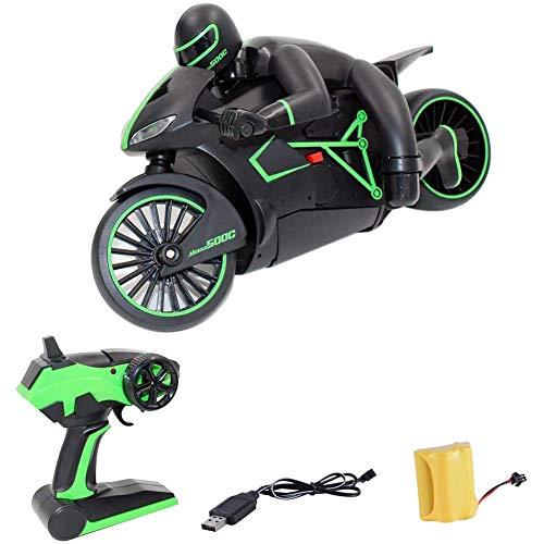 LCZ Ferngesteuertes Motorrad, 4-Kanal-RC-Car Mit Fernbedienung, 2-Rad-Hochgeschwindigkeits-Funkmotorrad Für Kinder Und Elektroantrieb Für Erwachsene,Grün