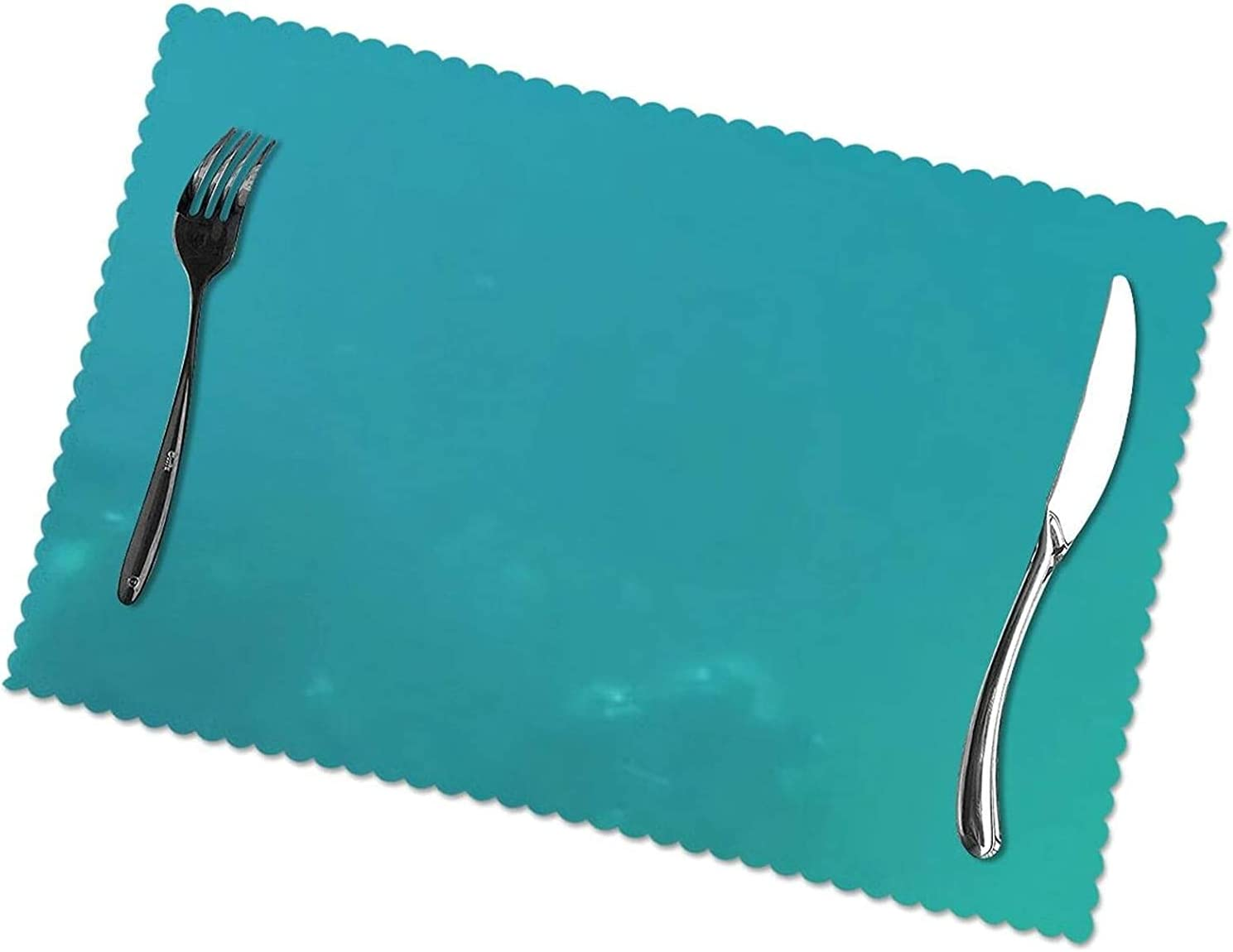 Sea Printing Placemats Set of 6 to Materia Clean Easy Colorado Springs At the price Mall Polyester