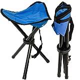 EYEPOWER Camping Hocker Klapphocker Angelhocker Falthocker Campinghocker Dreibein Stuhl Blau