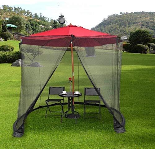 Neta al aire libre del mosquito Mosquitera for la sombrilla, la pantalla jardín al aire libre Paraguas Tabla de instalación al aire libre del mosquito Net Easy rápida de cortina de control de una mosq