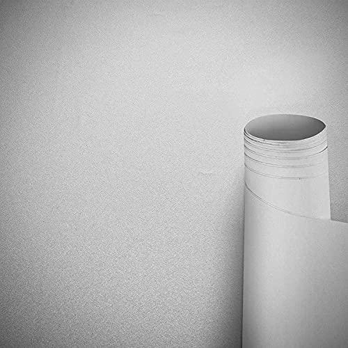 Awnic Möbelfolie Weiß Matt Klebefolie für Küchenschränke Schrankfolien Selbstklebend Küchenfolie Schränke Küche Wasserfest 300x40cm