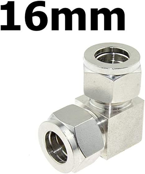 Ф8x6 4Pcs 304 Stainless Steel Ferrule Compression Fitting 2‑Touch Straight Bulkhead Connector