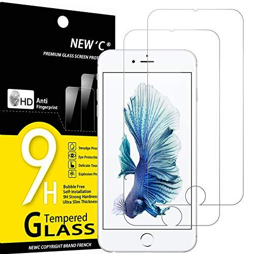 NEW'C 2 Pezzi, Vetro Temperato Compatibile con iPhone 6 Plus e iPhone 6S Plus, Pellicola Prottetiva Anti Graffio, Anti-Impronte, Durezza 9H, 0,33mm Ultra Trasparente, Ultra Resistente