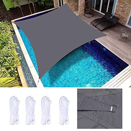 HRD 2X1.8m Toldo Vela de Sombra Rectangular Bloquear UV Toldo Vela Impermeable y Resistencia al Desgaste Gris Beige para Balcón Playa Verano Jardín al Aire Libre