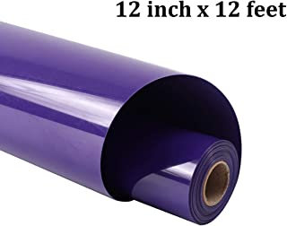 guangyintong Heat Transfer Vinyl Roll for T-Shirts 12 Inch by 12 Feet No Adhesive Matte (Purple A16)
