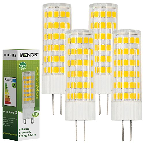 MENGS® 4 Stück G4 LED Lampe 7W AC/DC 12V Warmweiß 3000K 75x2835 SMD Mit ACRYLIC und Keramik Mantel