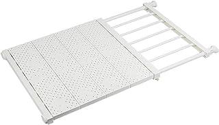 NAKO つっぱり棚 突っ張り棚 強力 滑り止め つっぱり棒 棚 収納 (ホワイト (奥行42cm 幅73~130cm))