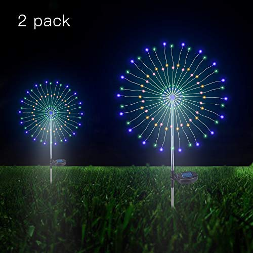 Outdoor Solar Garden Decorative Lights- 105 LED Powered 35 Copper Wires String...