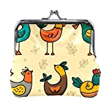 Coin Purse Clutch Pouch Wallet Cash Bag, Card Change Holder Organizer Storage Key Hold For Girl Women Female Party Gift Presents Case Money Bags Collection Birds
