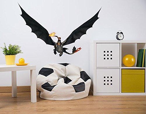 Klebefieber Wandtattoo Dragons Hicks und Ohnezahn fliegen B x H: 60cm x 39cm