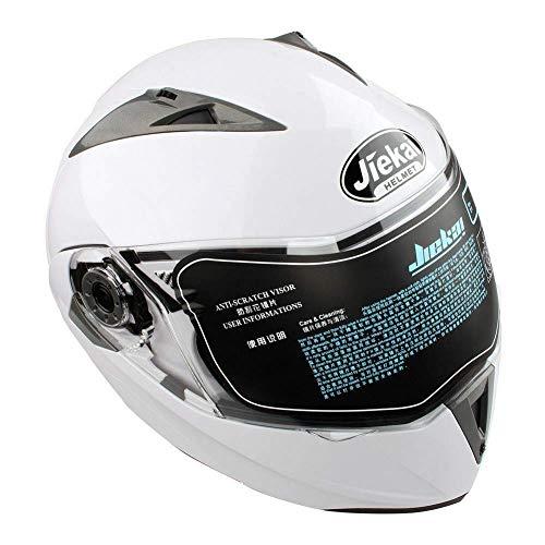 Casco de Moto Modular con Doble Visera para Ciclomotor Motocicleta y S
