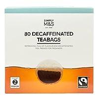 英国マークス&スペンサー デカフェイン紅茶 80ティーバッグ MARKS & SPENCER DECAFFEINATED 80TEABAGS 250G 【海外直送品】【並行輸入品】