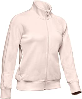 Under Armour Women's Double Knit Track Jacket, Pink (Apex Pink/Onyx White), Medium