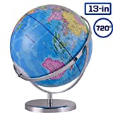 Best World Globes - ZUEDA 13 Inch Cartography World Globe Desktop Geographic Review