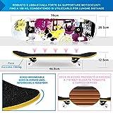 Zoom IMG-1 skateboard per principiante 80x20 cm