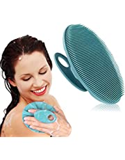 INNERNEED Handheld Silicone Body Scrubber Exfoliating Glove Shower Cleansing Brush, SPA Massage Skin Care Tool, for Sensitive and all Kinds of Skin