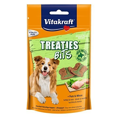 Vitakraft Snack Hund Treaties Bits Truthahn- und Minze, 6 x 120 g