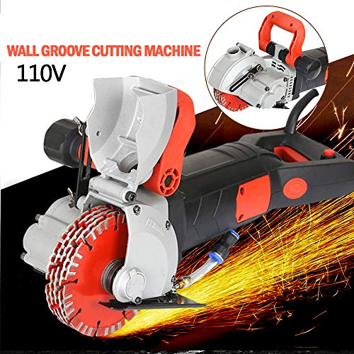 ZXMT 4800W Wall Groove Cutting Machine 110V 40MM Electric Wall Chaser Concrete Cutter Notcher Groover Slotting Machine