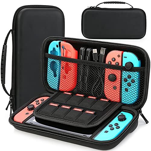 HEYSTOP Tasche Kompatibel mit Nintendo Switch/Switch OLED, Nintendo Switch/Switch OLED Tragetasche mit Mehr Platz, Schutzhülle Hülle Case für Nintendo Switch Zubehör...