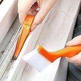 Feccile 2 en 1 multiusos cepillo de limpieza para puerta de ventana con teclado Nook Polvo Shovel, 2 colores