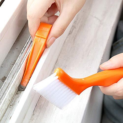 MA87 2-in-1 Multifunktions-Reinigungsbürste für Badezimmer, Bodenwand, Tastatur, Staubschaufel Orange