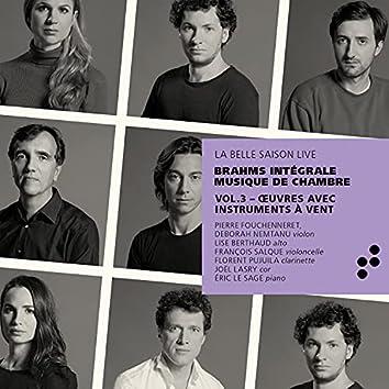 Œuvres avec instruments à vent (Intégrale musique de chambre), Vol. 3 (Live)