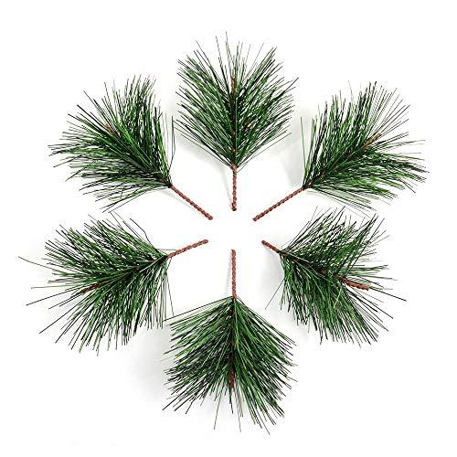 Aqiong Hibeilinq Weihnachten Simulation Pine Needles Kunststoff Pine Needles DIY Beleuchtung Zubehör Kieferzweige Hauptdekoration Verarbeitung Brauch, 2ST künstliche Blume