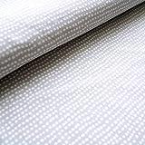 Stoffonkel Biojersey Dotted Line grau (GOTS) 50 x 165 cm