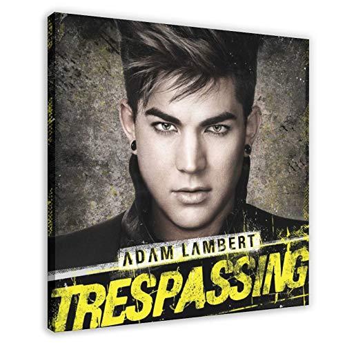 Cubierta del álbum de Adam Lambert Forajidos del amor, 1 póster de lienzo para decoración de pared, pintura para sala de estar, dormitorio, 40 x 40 cm, estilo de marco 1