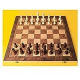 Conjunto De Ajedrez De Madera Conjunto De Tablero De Ajedrez De Viaje Potable (2 En 1) Juego De Ajedrez para Niños Y Adultos (Color : XXL Chess Set)