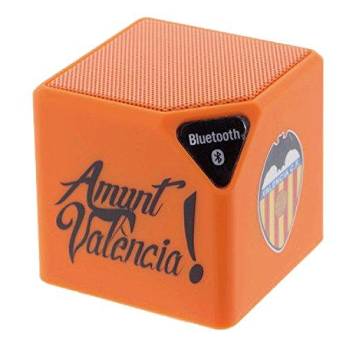 Valencia CF Orange Bluetooth Speaker Official Product. Carcasa de TPUde Alta protección. Funda Antideslizante, Anti choques y caídas.