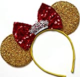 CLGIFT Beauty and The Beast Ears, Gold Minnie...