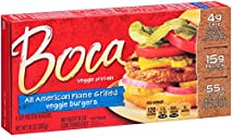 Boca, Flame Grilled Burgers, 10 oz (Frozen)