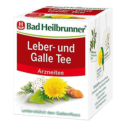 Bad Heilbrunner Tee Leber und Galle 8 Filterbeutel, 1er Pack