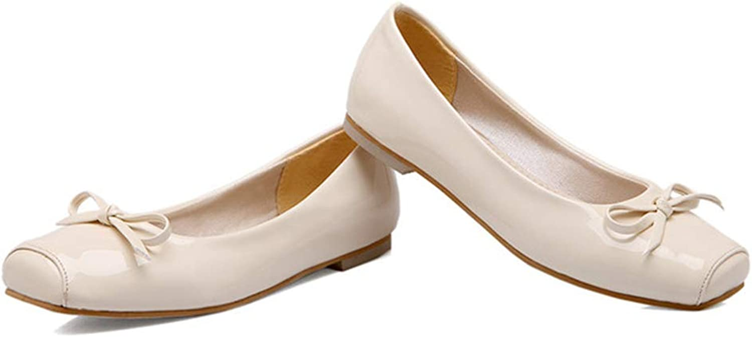 IS Gusssy Women shoes Ballet Flats shoes Square Toe Flat Boat shoes