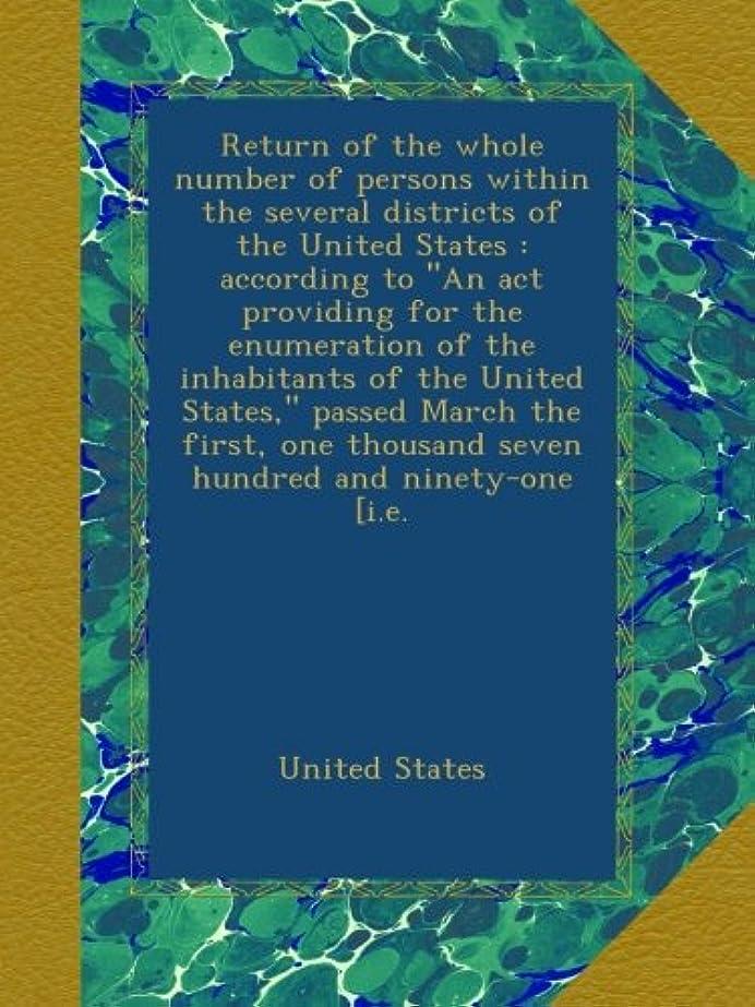 ホームスロープカテゴリーReturn of the whole number of persons within the several districts of the United States : according to