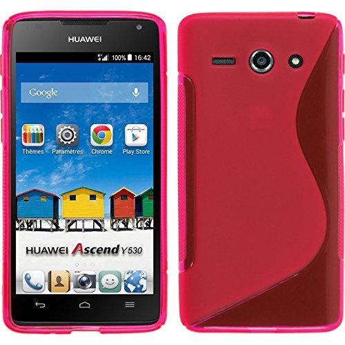 PhoneNatic 2 x Glas-Folie klar kompatibel mit Huawei Ascend Y530 - Panzerglas für Ascend Y530