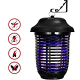 YUNLIGHTS Electric Fly Zapper 40W, Mosquito Zapper Indoor and Outdoor Bug Zapper Mosquito Fly Killer Light for Home Kitchen Office Patio Backyard Effect 1615 sq. Ft.(Black)