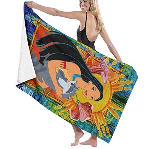 Toallas de baño extragrandes extragrandes súper Suaves 32x52 Pulgadas (80 × 130 cm) Anime Pocahontas and Meeko Toalla de baño Cool Super Soft Lujosa para Uso Diario